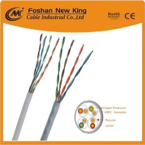 0.56mm CCA UTP LAN Cable CAT6 Ethernet Network Cable اللون الرمادي